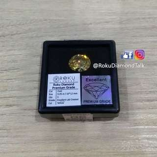 Roku Diamond - Yellow Oval Cut