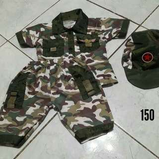 Soldier camouflage costume