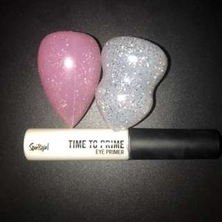 Mini silicon blenders and Eye Primer