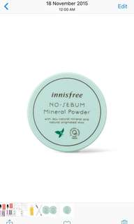 🍀BN Innisfree No Sebum Mineral Powder