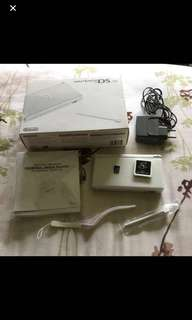 Authentic Nitendo Dslite in Pearl White with TTDS and 1GB memory card