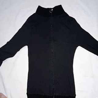 Black turtle neck jacket // Zara inspired