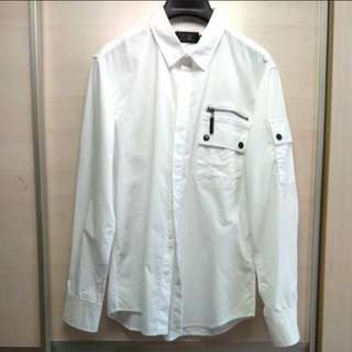 Shirt ZALORA BASICS24:01 White Shirt ZALORA品牌 24 01 男裝恤衫