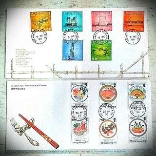 89 香港未來建設 紅館中銀 Future Building 90 International Cuisine Suishi 國際美食 壽司 stamp 郵票