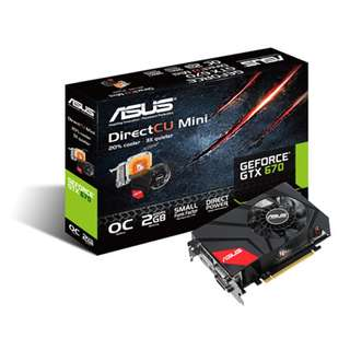 Asus Geforce GTX670 DirectCU Mini 2GB (GTX670-DCMOC-2GD5)