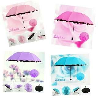 magic uv folding sun/rain windproof flowering umbrella