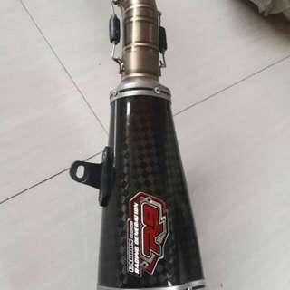 Knalpot R9 carbon full system ori ninja 250 fi