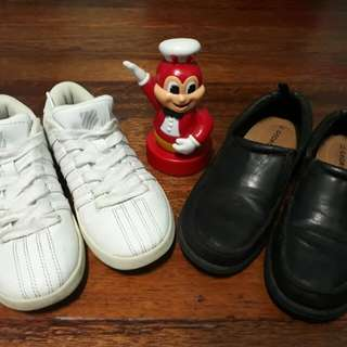 US Bought White KSwiss and Black George school Kids Shoes Bundle