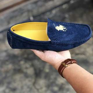Polo Suede Loafer Navy Blue #CNY88