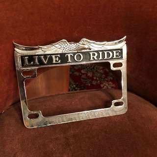 Zodiac Live to Ride License Plate Frames