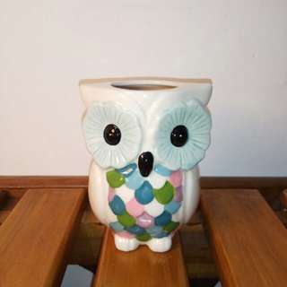 Owl Ceramic Stationery Glass