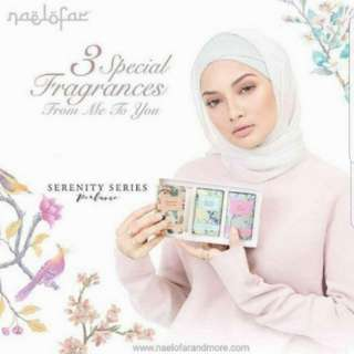 (INSTOCK AVAIL) Authentic Naelofar Perfume 3 In 1 Gift Set, Serenity 3 in 1 set & Blossom Series Perfumes (Vanilla Orchid) & (Rose Blush) PO