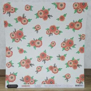 Jen Hadfield 'Cottage Living: Dotted Blossoms' Scrapbooking Paper