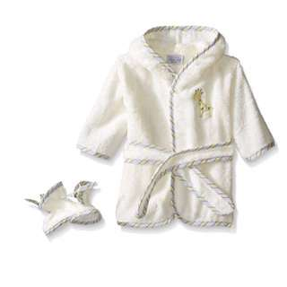 SALE 50% Off - 0-9 Mths BNWT Rene Rofe baby unisex 2pc bath robe and bootie set