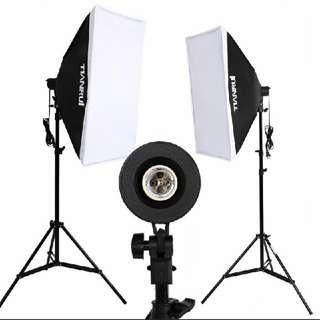 Courier inclusive 2 complete softbox with light bulb