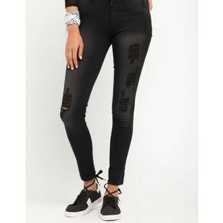 Factorie High-Waisted Ripped Jeans