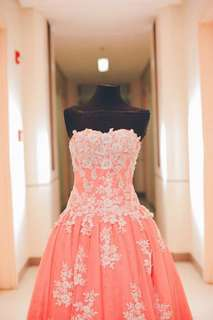 Floral Pink Gown for Rent!