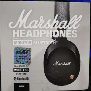 Marshall Monitor Bluetooth BNIB Sealed