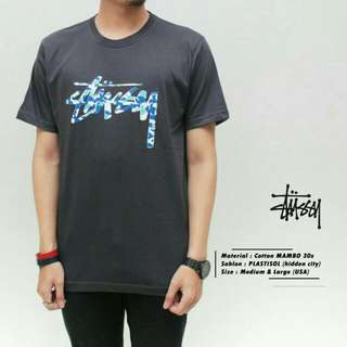 kaos surfing casual stussy