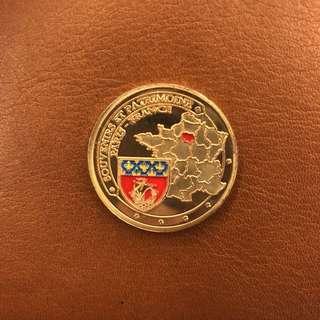 Paris Eiffel Souvenir Coin