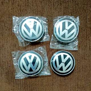 Volkswagen Wheel Center Caps (4pcs) (55mm)