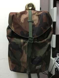 Herschel 軍綠迷彩背包 backpack