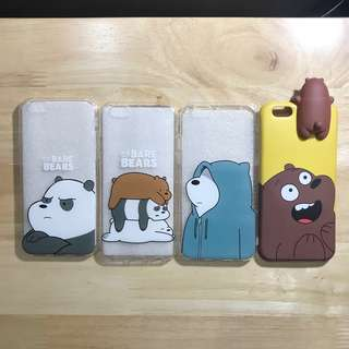 iPhone 6/6s We Bare Bears Silicon Phone Case (200 each)