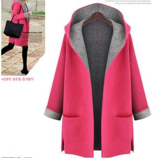 Brand New BN Hot Pink Winter Coat with Hood