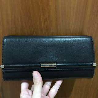 Dompet charles & keith black leather