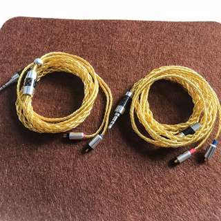 6 core copper Litz MMCX or 2 pin IEM upgrade cable