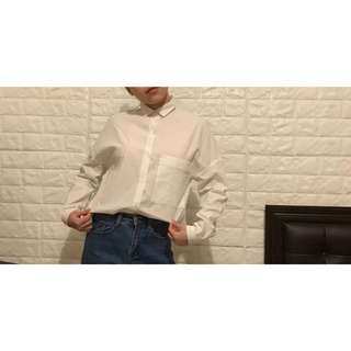 Zara百搭白襯衫