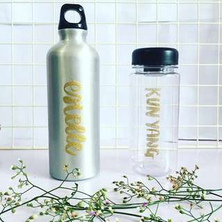 Customisable bottle calligraphy anniversary monthsary Day gift gifts present presents Friend friends friend's birthday party set Husband Wife Boyfriend Girlfriend boy girl teacher Teachers customised water waterbottle Personalised wedding bridesmaid kids