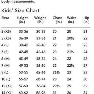 KIDS Sizing Chart
