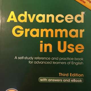 Advanced grammar book