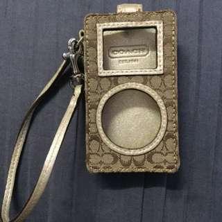 authentic coach ipod case