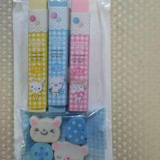 Cute Erasers Set