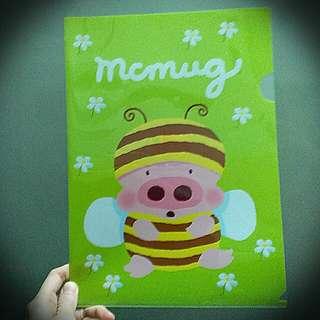 麥嘜蜜蜂黃巴士文件夾 File A4 Mumug Yellow Bus Folder