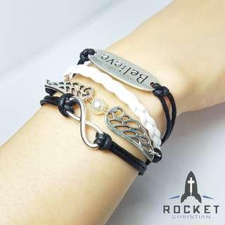 Multi-Bracelet - Believe in Infinity through Angels *In Stock