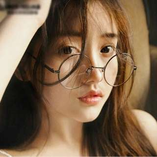 Ulzzang Korean Round Glasses(Black)