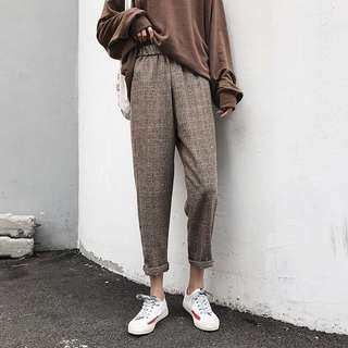 Brown gray trousers