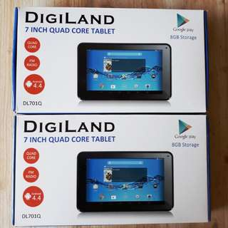(Buy 2 for the Price of 1) Digiland DL701Q 512MB Ram 8GB ROM Android 4.4 Kitkat  Tablet