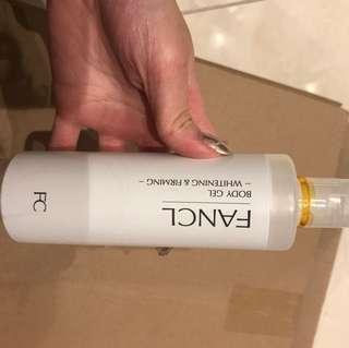 Fancl whitening & firming body gel