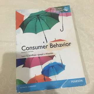 Consumer behaviour 11th edt.