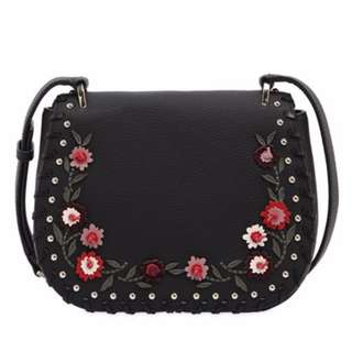 今年大熱超靚復古花花 Kate Spade New York TRESSA FLORAL APPLIQUÉS LEATHER BAG