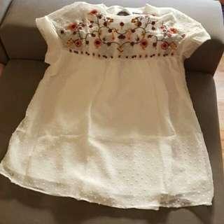 Mini Dress Summer White Defect