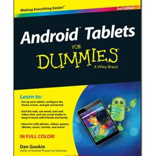 Ebook Android™ Tablets For Dummies® 3rd Edition