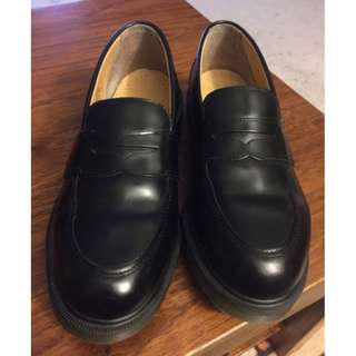 Doc Martens Women's Addy Smooth Leather Penny Loafer Black Size 6 (37)