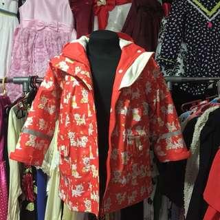 Cat Design Rain Coat/Jacket