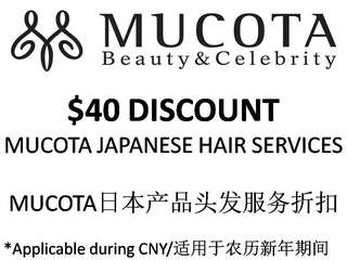 Free $40 vouchers worth - Mucota Hair Services