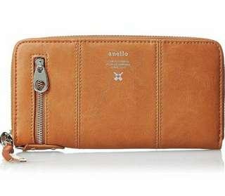 Anello premium leather long wallet